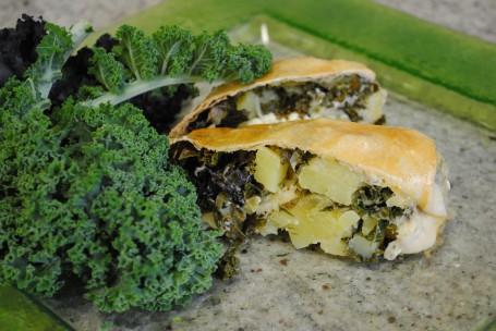 Grünkohlstrudel mit Frischkäse -  (Foto: LK OÖ/Evelyn Puchner - Nicht zur freien Verwendung)