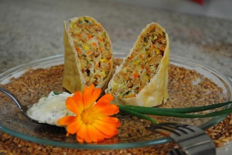 Gemüse-Dinkelstrudel mit Schafkäsesauce -  (Foto: LK OÖ/Evelyn Puchner - Nicht zur freien Verwendung)
