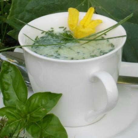 Kalte Gurkensuppe -  (Foto: Eva Maria Lipp - Nicht zur freien Verwendung)
